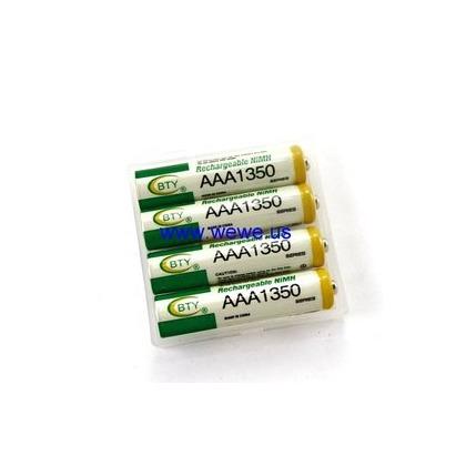 大容量 鎳氫充電電池4號AAA-型號1350 led腳踏車車燈/手電筒/ 模型遙控/數位相機/無線電話均可