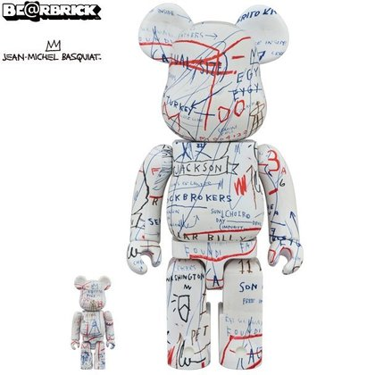 金錢貓雜貨 BE~RBRICK BEARBRICK 400%  100% Jean~Michel Basquiat