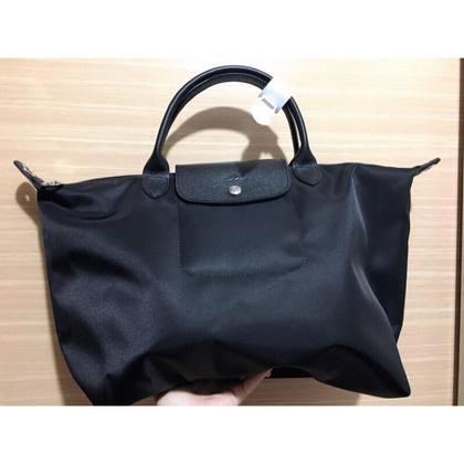 LONGCHAMP LE PLIAGE 手袋 (中型 黑)