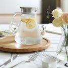 日式簡約大容量不銹鋼蓋玻璃冷水壺果汁壺涼水壺玻璃茶壺CJ-22   秒速 免運