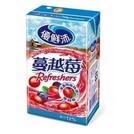 優鮮沛蔓越莓綜合果汁 鋁箔包250ml【台灣合迷雅好物商城】(218元)