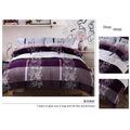 【玫瑰物語】法蘭絨毯3.5x6.2單人厚包組(單人鋪棉床包+枕頭套+單人被套)三件組單身貴族寢具開學用品學生紫色情節