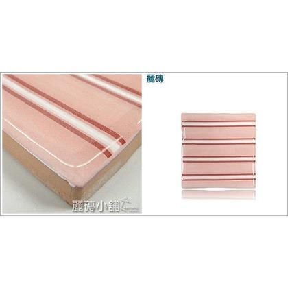 [10x10] 極歐系列。義大利。手工鄉村風。釉面磁磚。現貨。『粉紅條紋』TAR101G