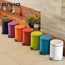❤集美家居❤不銹鋼垃圾桶衛生間客廳廚房緩降帶有蓋腳踏式靜音垃圾筒紙簍