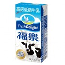福樂 高鈣低脂牛乳/巧克力 / 蘋果  保久乳飲品  200ml*6入