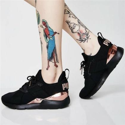 ✨現貨✨ PUMA蕾哈娜黑玫瑰金慢跑鞋 休閒鞋