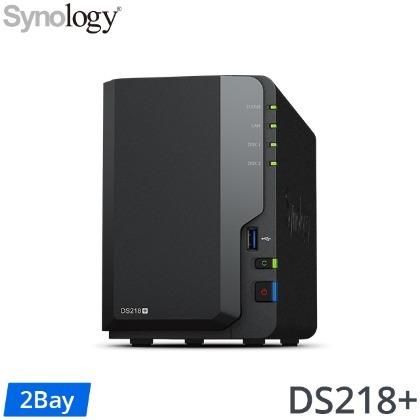 Synology DS218+ 2Bay 網路儲存伺服器 (2Bay/Intel/2GB) 網路儲存伺服器