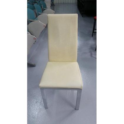 宏品二手家具館~ F52538白色皮面高背餐椅 *書桌椅 電腦椅 讀書椅 辦公椅 會議椅 洽談桌椅 中古傢俱拍賣