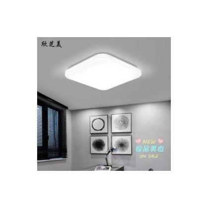 吸頂燈 LED吸頂燈方形亞克力大客廳燈具現代簡約臥室燈陽台過道餐廳燈飾T 『新時代家居』