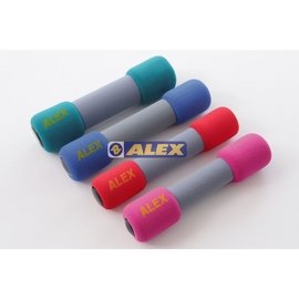 【原野體育】德國品牌 台灣製造 ALEX 丹力 C-07 韻律啞鈴 安全啞鈴 啞鈴 紅色 3磅(1.4kg)